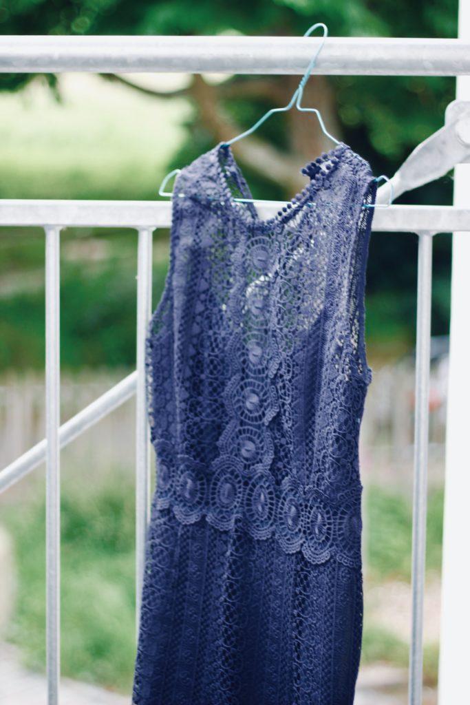 Kleid Pflege auslüften