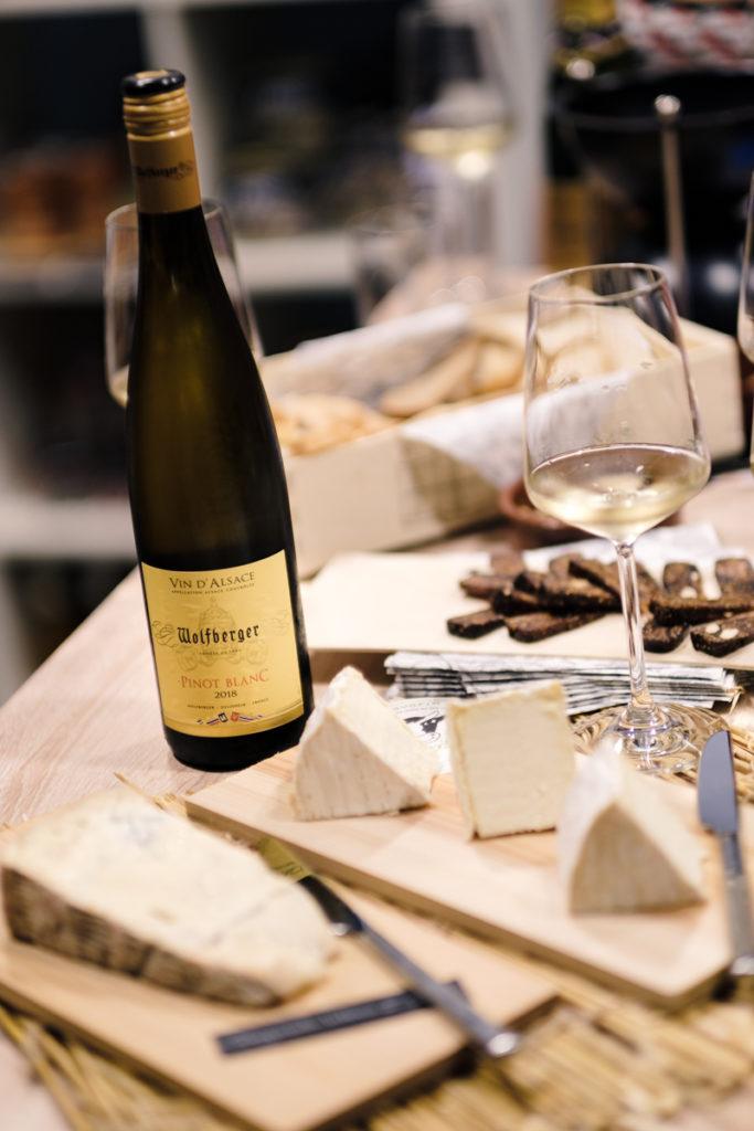 Pinot Blanc mit Käse